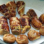 recette Tubes, cornets, mini chaussons et petits nids de pommes