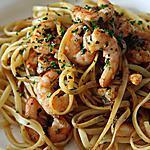 recette Linguine à l'ail et aux Crevettes