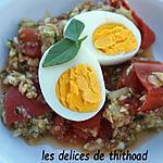 recette salade de quinoa , tomates et oeufs durs