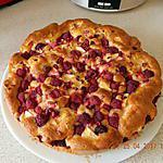recette Gâteau pommes framboises mascarpone