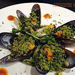 recette Saladine de moules en chapelure verte