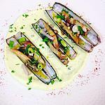 recette Les couteaux marinés au basilic