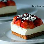 recette Un carré de fraises sans cuisson
