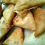 recette Samoussas poulet/ chorizo /kiri