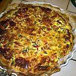 recette Tarte Épinard - Thon - poivron