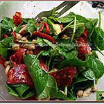 recette Salade de pousses d'épinards au chorizo et pois chiche