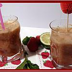 recette Jus Printanier à la rhubarbe, fraises et menthe au Thermomix.