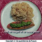 recette Filet de rouget et sa sauce pesto