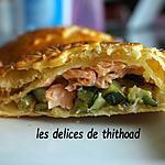 recette tourte courgettes et saumon