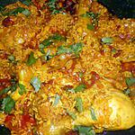 recette Pilaf de poulet à la marocaine