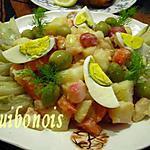 recette Salade chaude printanière,vinaigrette à l'huile d'olive et au citron.