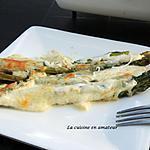 recette Asperges vertes gratinées à la mozzarella