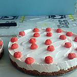 recette CHESSECAKE A LA FRAISE ( DANONINO)