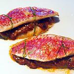 recette Burgers de rouget au caviar d'aubergines