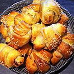 recette Croissants saumon et fromage frais ail et fines herbes