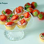 recette Tartelettes de fraises sur un lit de ganache au chocolat blanc coco et gingembre