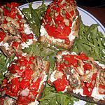recette Tartines aux sardines et poivrons grillés