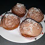 recette Muffins à la noix de coco et chocolat