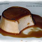 recette Panna cotta à la fleur de chataigne et son coulis de caramel