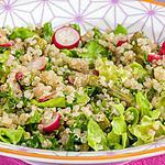 recette Salade de quinoa aux asperges et radis,