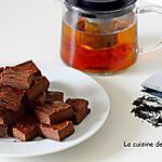 recette Carrés fondants au chocolat noir et lait concentré sucré