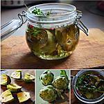 recette Antipasti artichauts à l'huile