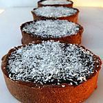 recette Tartelettes mousse coco et ganache au chocolat