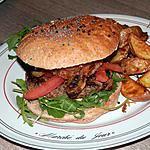 recette Mon Burger du Charolais au Gouda Pané à la Truffe Noir