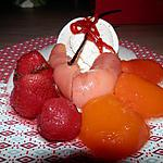 recette Crème à Vanille du Mexique et fruits Pochés.