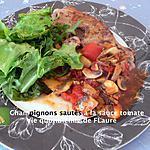 recette Champignons sautés à la sauce tomate