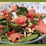 recette Salade de truite fumée