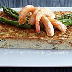 recette Terrine d'asperges vertes aux gambas et crabe
