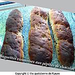 recette Baguettes viennoises aux pépites de chocolat