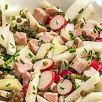 recette Salade de lentilles au chou rave, jambon et radis