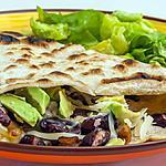 recette Tortilla à la dinde, haricots rouges et avocat