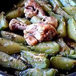 recette POULET PILONS AUX CHOUCHOUX  (christophine / chayote ) cuit à l'étouffé .