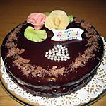 recette Gateau d'anniversaire ganache au chocolat noir