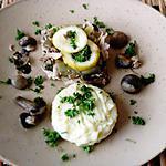 recette poulet  citron  thym,  purée  pomme de terre  champignons