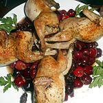 recette Cailles aux cerises