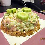 recette tatin de crevettes concombre aux crakers