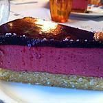 recette Bavarois Framboise sur fondant aux amandes