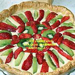 recette Tarte Fraises/kiwis/crème de rhubarbe