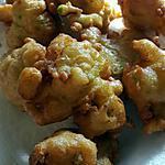recette Beignets de courgettes râpées