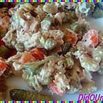 recette Macédoine de légumes/thon & mayonnaise maison
