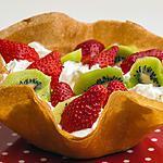 recette Corolle de fraises et kiwis à la chantilly