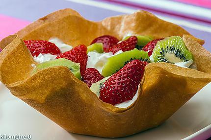 Photo de recette de corolle, fraises, kiwis, briks, facile, léger, rapide de  Kilomètre-0, blog de cuisine réalisée à partir de produits locaux et issus de circuits courts