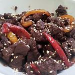 recette Sauté de boeuf et poivrons à l'asiatique