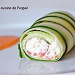 recette Cannelloni de concombre et rillettes de dorade, sans cuisson