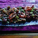 recette salade tiéde  de scampis  de  nathalie  détail,  et  nathalie  milani