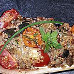 recette aubergine farcie au quinoa d'été